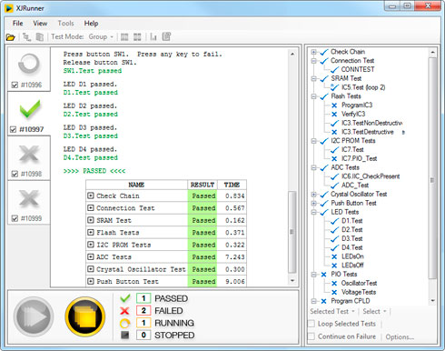 XJRunner software