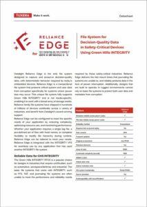 Reliance Edge Datasheet